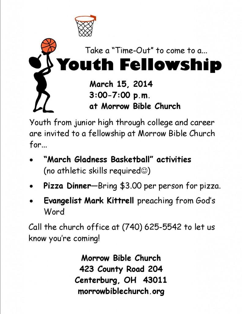 News morrow bible church part 6 youth fellowship march 15 2014 stopboris Gallery