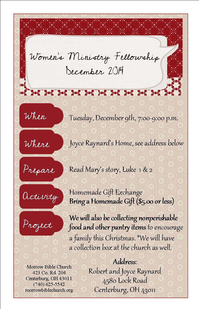 Womens Ministry Christmas Invitation - Wiring Diagrams •