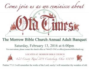 Morrow Bible Church Adult Banquet 2016